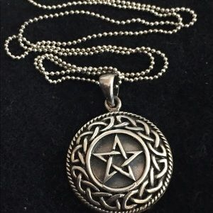 Jewelry - Sterling Silver Pentagram Pendant Sterling Chain